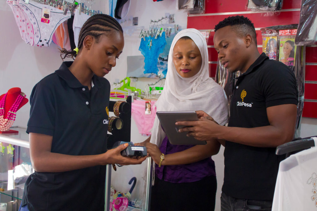 Cloth Store educated about electronic payments source:ClickPesa