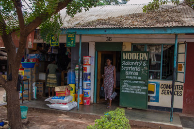 Informal merchant in Tanzania
