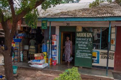 Informal merchant in Tanzania