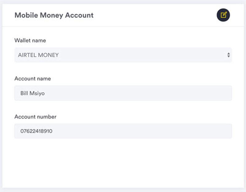 setup mobile money account